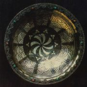 Decorative bowl 'Sun'. Niello, rovors. 1966