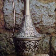 Decorative pitcher. Niello, engraving. 1964