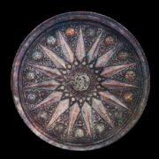 Dish 'The Unbreakable Union'. Embossing, cloisonne enamel. 1969