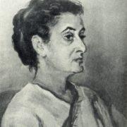 Indira Gandhi. 1957