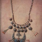 Necklace 'The Moon'. Zern, gavars. 1969