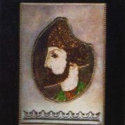 Portrait of Shota Rustaveli. Cloisonne enamel, Niello. 1961