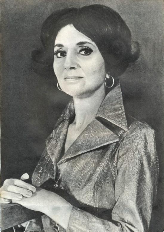 Prominent Soviet opera singer Zara Dolukhanova