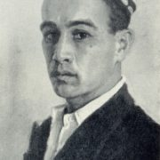 Self-portrait. Soviet Uzbek artist Abdulkhak Abdullayev (30 December 1918 - 29 October 2001). 1958