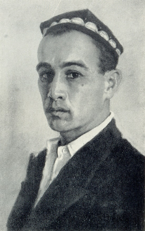 Self-portrait. Soviet Uzbek artist Abdulkhak Abdullayev (30 December 1918 - 29 October 2001). 1958