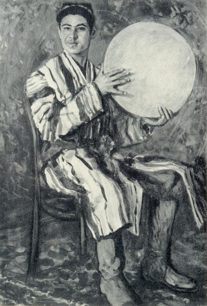 Tambourine player Rustam. 1960