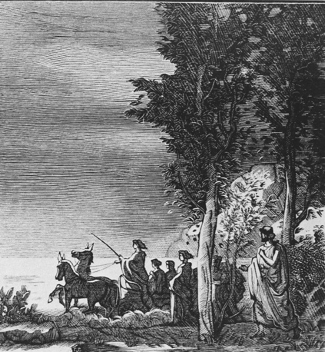 The book 'Odyssey', illustration