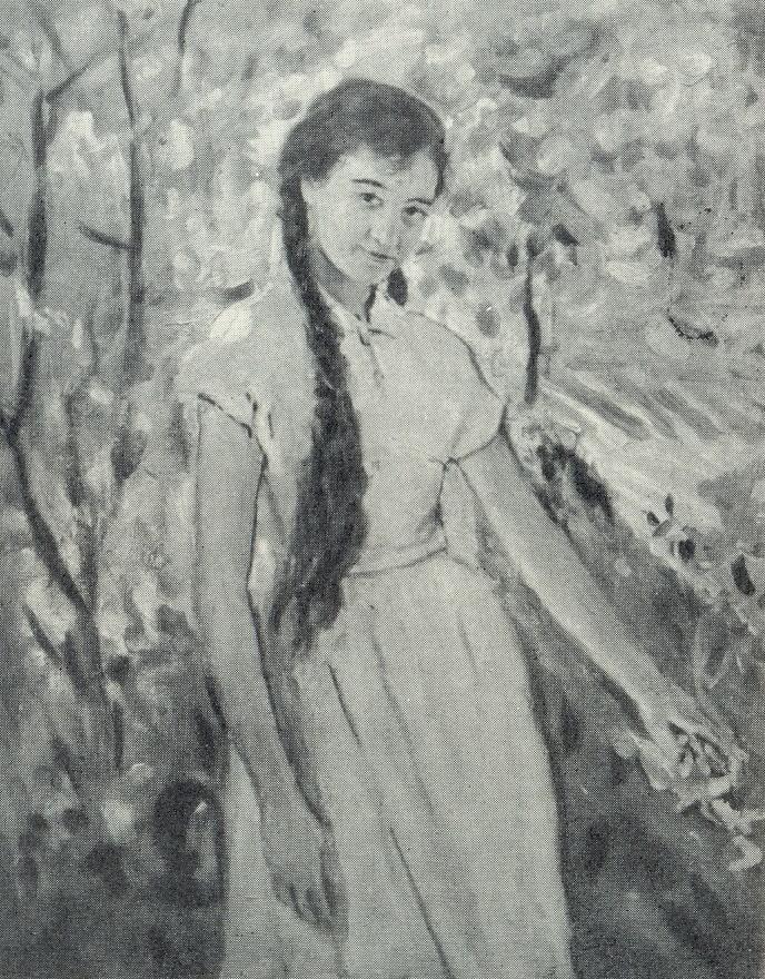 The girl in the garden. 1958