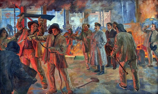 Visit. 1937 (visit of Ordzhonikidze to the plant)