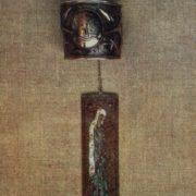 Wall plate 'The Sorrowful Mother'. Curls, gavars, enamel. 1967