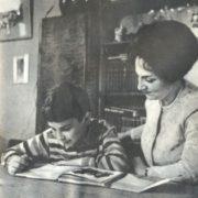 With her son, Zara Dolukhanova