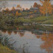 A large pond in Yasnaya Polyana. 1960