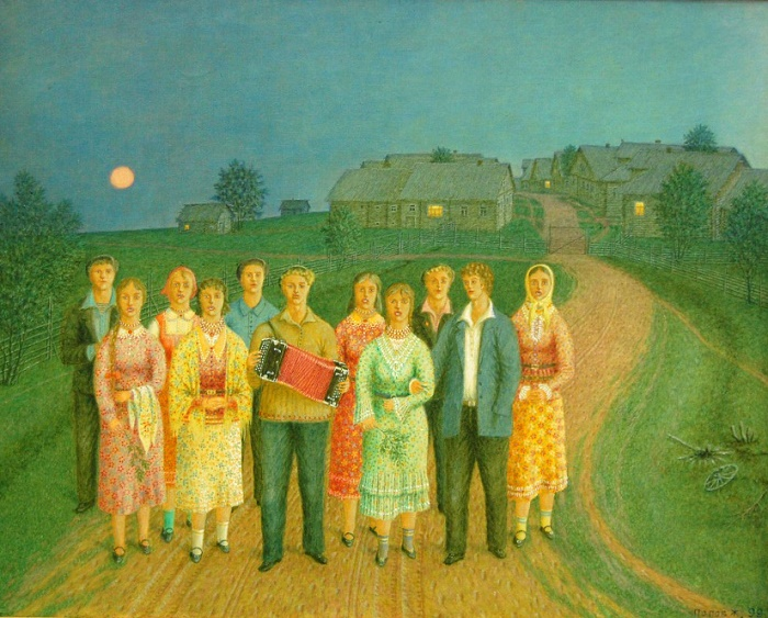 Limericks. 1999. Oil on canvas. From the collection of the Vologda Museum-Reserve