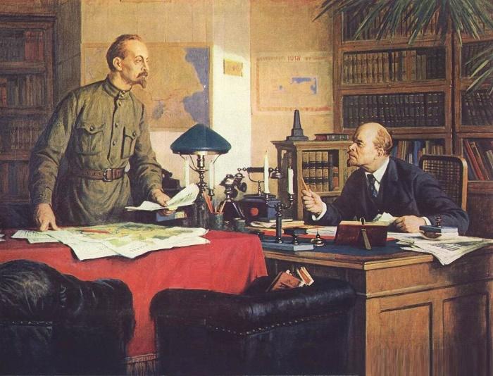 VI Lenin and F.E. Dzerzhinsky