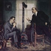 VI Lenin at the AM Gorky's. October 1920