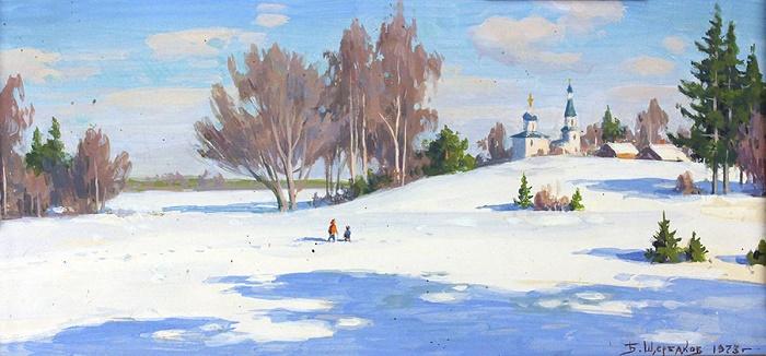 Winter landscape. 1973