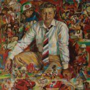 Anatoly Grachev, journalist. 1986. Oil, canvas
