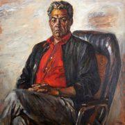 Baba Annanov, famous Turkmen actor (1934-1991). Portrait. 1989