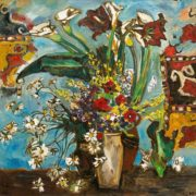 Flowers for my birthday. 1988. Oil on canvas