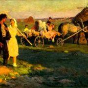 Hay making. 1957