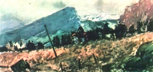 In the Carpathians. Oil. 1945