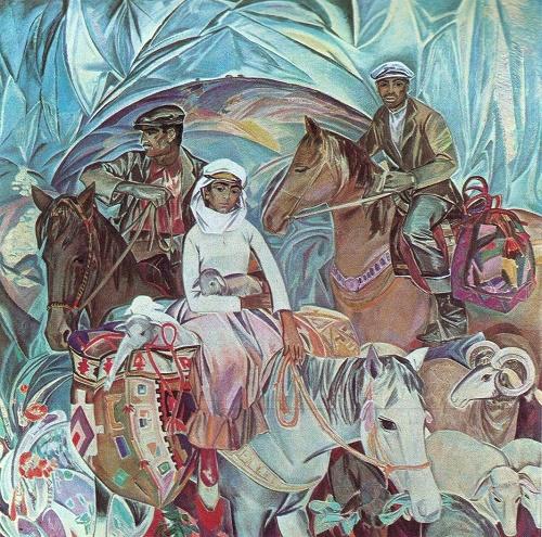 Nadir Abdurakhmanov (Azerbaijan, 1925). People of mountains. 1971