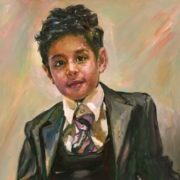 Oil on canvas Portrait of a boy