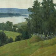 Over the Oka. Polenov places, 1956