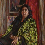 Pianist Orazgul Annamuradova. 2001. Oil, canvas