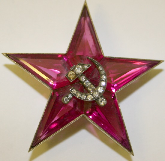Ruby star with diamonds for the capital of the Soviet Union - Moscow