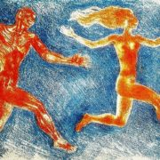 Satyr and Nymph. 1975. Paper, a color pencil