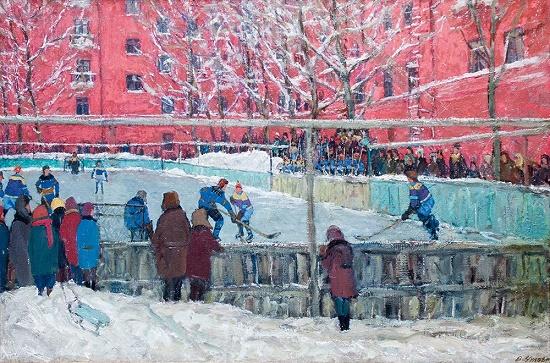 Soviet artist Viktor Nikolaevich Chulovich 1922-1994
