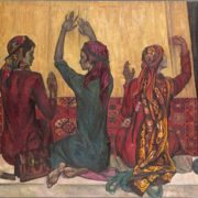 Turkmen carpet-makers. 1971. Oil on canvas. Collection of the State Tretyakov Gallery