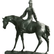 A. Bayarlin. Girl on a horse. Plasticine. 1988