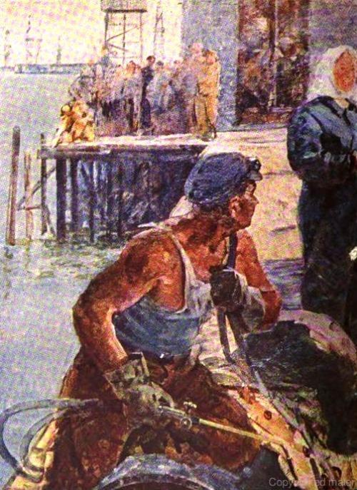 A. Sukhanov. The Caspian Sea explorers