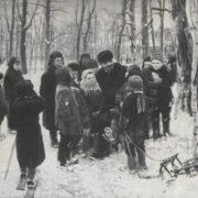 A. Varlamov. Lenin with children. Oil. 1950