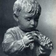 A.E. Zelensky. Portrait of daughter. Porcelain. 1935