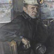 A.I. Lysov. Portrait of miner A.G. Vlasov. 1974
