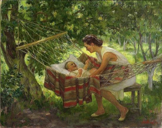 A.M. Lyubimov. Motherhood. 1949