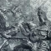 A.S. Manannikova. Chongar breakthrough. The bas-relief. Gypsum. 1933. Fragment