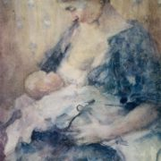 A.V. Fonvizin. Motherhood. Watercolor. 1936