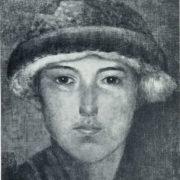 A.V. Nikolayev. A boy in a fur hat. 1924