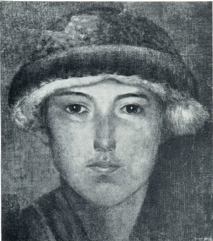 A.V. Nikolayev. A boy in a fur hat. 1924