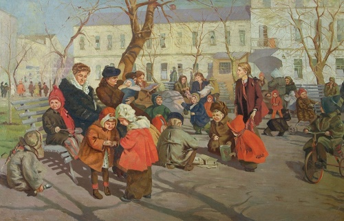 AA Melky (1924). Spring. canvas, oil. 1952