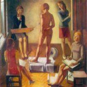 AI Simonov (b. 1941) studio. 1975. Oil on canvas