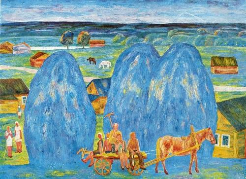 AV Lukin. Blue Summer. 1976