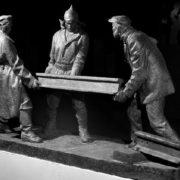 Alexander Ryabichev. Sculpture 'Komsomol members of 1920s. 1978. Gypsum