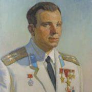Anatoly Kazantsev. Portrait of Yuri Gagarin. 1970. Oil on canvas