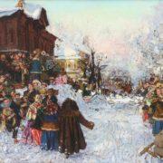 Anatoly Markovich Znak (1939-2002). Seeing winter off in Krasnoyarsk. 1991
