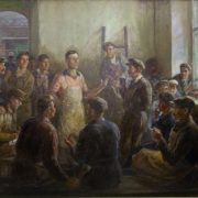Andrey Timofeyevich Sashin (1896-1965)'The initiator of Industry day for the workers of Sloboda'. 1950s